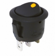 Circular Rocker switch <br>built in  AMBER LED <br>ON/OFF<br>12v @10Amp rated<BR>ALT/SH17-02